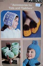 Accessories for Tots and Toddlers Children's Slippers Mittens Hats Bootees Bonne