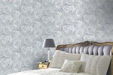 Arthouse Reverie Silver Wallpaper Floral Roses Filigree Grey Flowers 623303
