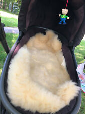 Lammfell,waschbar 80+cm,chromfreie Öko-Gerbung Babylammfell Kinderwageneinlage