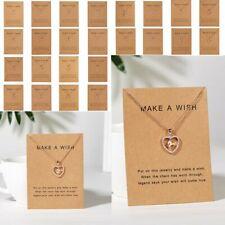 Charm Women's Crystal Heart Initial Letter A-Z Alphabet Pendant Chain Necklace