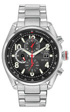 Citizen Eco-Drive Men's Chandler Chronograph Black Dial Watch 45mm CA0368-56E