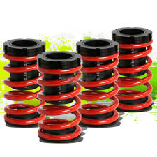 """FOR 01-05 CIVIC EM2 ES FRONT+REAR RACING COILOVER 1-3""""LOWERING COIL SPRING RED"""