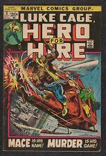 LQQK vintage 1972 original marvel comic HERO FOR HIRE #3