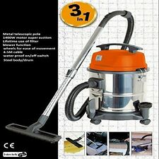 Wet and Dry Vacuum hoover carpet Vac Cleaner Industrial 20ltr 1400w 230v S STEEL
