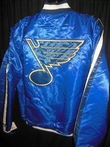 St Louis Blues NHL Men's Quilt Lined Front Snap Starter Jacket 3X,4X or 5X