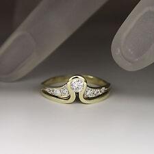 Zierlicher Ring mit ca. 0,25ct Brillant W-si in 585/14K Weiß-/Gelbgold