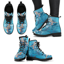Mermaid Turquoise Handcrafted Women's Vegan-Friendly Leather Boots