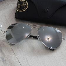 Ray Ban Aviator Sonnenbrille RB3025 W3277 Größe M 58/14 Silber Verspiegelt