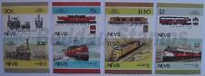 1986 NEVIS Set #5 Train Locomotive Railway Stamps (Leaders of the World)