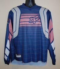 Fox HC Racing Jersey Men's XL Motocross Bike Racing Blue L/S Shirt Pink White