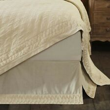 VHC Farmhouse Adelia Bed Skirt King Queen Twin Dust Ruffle Cotton 3 Colors