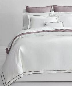 RALPH LAUREN Euro Sham Spencer Sateen Border Deep Lavender 100% Cotton MSRP$135