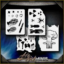 """Mini Warfare Set"" Airbrush Stencil Template Airsick"