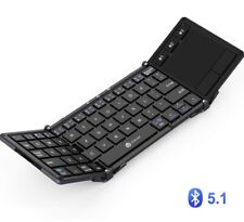 iClever Keyboard IC-BK08 Dark Gray Folding Bluetooth USB Touch Pad