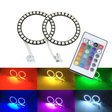 2x 100mm RGB Color Led 5050-SMD Angel Eyes DRL Halo Rings Kits IR Remote Control