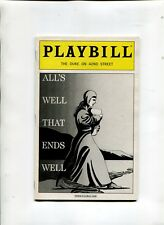 Off Broadway Playbill ALL'S WELL THAT ENDS WELL Duke on 42nd St 2006