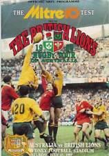BRITISH LIONS v AUSTRALIA 3rd Test 15 Jul 1989 Sydney RUGBY PROGRAMME