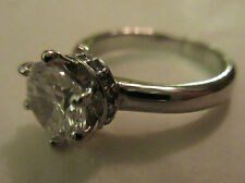 Ring Size 6.5 Solitaire Brilliant CZ Cubic Zirconia Victorian Engagement NWT #3