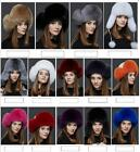 Raccoon fur hat  +  fox Winter Women fox fur hat New Hat Cap Headgear Beanie