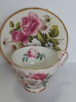 Royal Standard English Bone China Irish Elegance Teacup and  Rosina Saucer