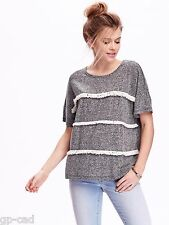 NWT OLD NAVY WOMEN'S PERFECT ADORABLE FRINGE HEATHER GRAY TOP, TANK,  LARGE SIZE