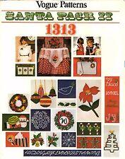 Vogue Embroidery Crewel Transfer Pattern Christmas SANTA PACK II 1313 UNCUT