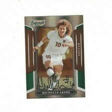 2008 Donruss Sports Legends Mirror Green Autograph Michelle Akers, numbered 4/5