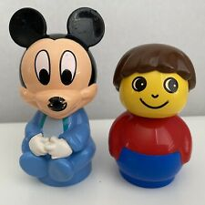 Lot 2 Lego Duplo PRIMO Baby Mickey Mouse & Boy Figures Replacement