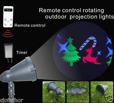 LED Bunte Strahler Schneeflocken Beleuchtung Lichteffekt Garten Fernbedienung