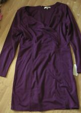 BNWT PURPLE  NOUGAT LONDON STYLISH  CROSS OVER BUST, DRESS SIZE L BEST FIT 16