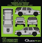 ZOMBIE OUTBREAK RESPONSE TEAM ZORT VEHICLE DECAL KIT-13 FULL SIZE HUGE STICKERS