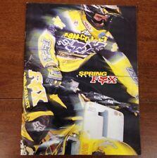 VINTAGE MOTOCROSS MOTO X FOX JEREMY MCGRATH CATALOG FMF DG  250 125 YZ RM VMX