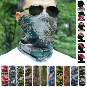 Face Scarf Mask Headwear Bandana UV Sun Protection Tactical Camouflage Mask