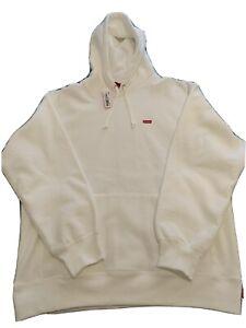 Brand New 100% Authentic Supreme Small Box Hooded Sweatshirt White/red Medium