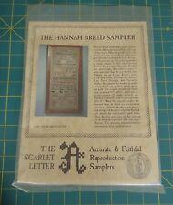 Antique Sampler Cross Stitch Kit The Scarlet Letter 1756 Hannah Breed Repro