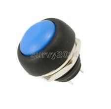 10Pcs 12mm Waterproof Momentary ON/OFF Push Button Mini Round Switch Blue