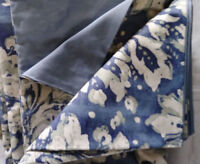 Pottery Barn Julia Duvet Cover Set Blue Queen 2 Standard Sham Floral 3pc Cottage