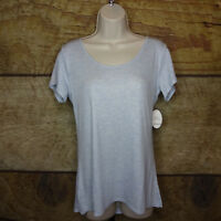Soma Intimates Large Sleep Therapy Short Sleeve Tee Shirt Heather Serenety NEW
