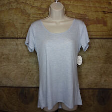 Soma Intimates XL Sleep Therapy Short Sleeve Tee T Shirt Heather Serenety NEW