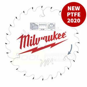 Milwaukee New PTFE Circular Saw Blades 165mm / 184mm / 190mm - Non-Stick