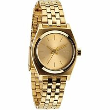 Nixon Small Time Teller Champagne Dial Gold-tone SS Womenss Watch A399502