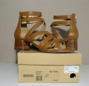 MICHAEL Michael Kors DIXON SINGLE SOLE SANDAL NIB Leather Back Zip Sandal Sz 10M