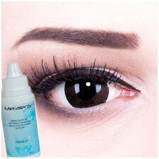 "Mini Sclera Lenses ""Black Sclera"" 17mm + Case contacts contact lenses, Carnival"