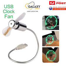 USB Clock Fan PC/Laptop/Portable Flexible LED Clock Fan