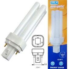 3x PL 10W Biax-D G24d-1 Cap Cool White Compact Fluorescent Lamp PLC Low Energy