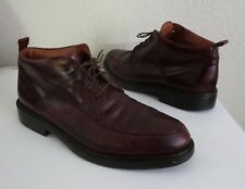 Mens JOHNSTON & MURPHY Passport Brown Leather LaceUp Chukka Ankle Boots 45 11.5M