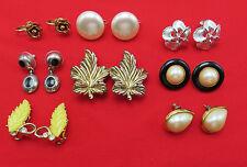 8 Pair Signed Vintage Earrings Richelieu Kramer Paqutte Lisner Pearl 759g