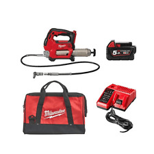 Milwaukee M18GG-501B 18 V Grease Gun Kit 1x 5ah M18B5 Chargeur de batterie et sa...