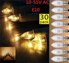 30Stk E10 LED-Ersatzlampen Glühbirnen Topkerze für Lichterkette Lichterbogen od