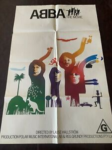ORIGINAL VINTAGE MOVIE POSTER ABBA THE MOVIE ONE SHEET BILL CINEMA MUSIC